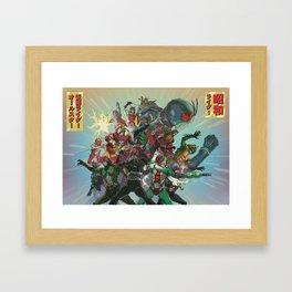 Showa Rider / Kamen Rider All-Star Framed Art Print