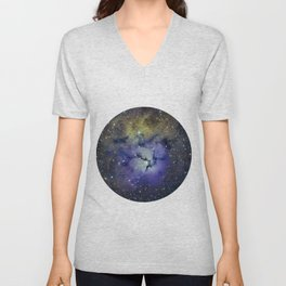 Pansy in Space Unisex V-Neck