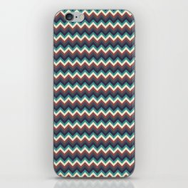 Geometrical colorful teal burgundy navy blue chevron pattern iPhone Skin