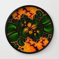 fractal Wall Clocks featuring Fractal  by Karl-Heinz Lüpke