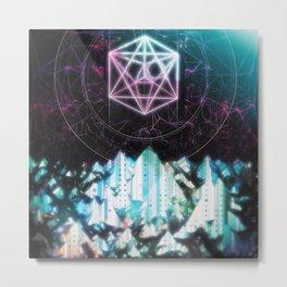 Icetop Mountain Metal Print
