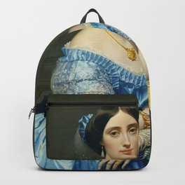 Portrat of the Princess In Blue Backpack
