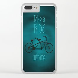 Take a Ride With Me Clear iPhone Case