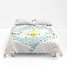 white whale Comforters