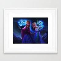 frozen Framed Art Prints featuring frozen by KATIE PAYNE