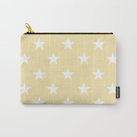 Stars (White/Vanilla) Carry-All Pouch