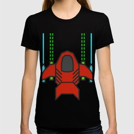 8bit Spaceship Game Shooter T-shirt