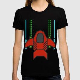 8bit Spaceship Game Shooter T-shirt