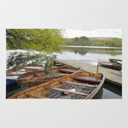 Boats on Wyresdale Lake, Scorton Rug