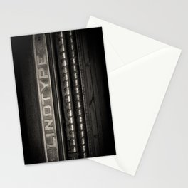 Linotype Old Print Machine Black and White Print Stationery Cards