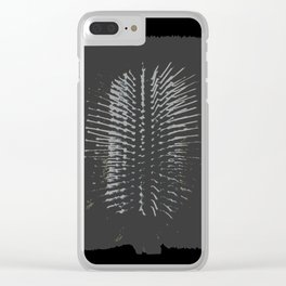 Free Vertical Composition #505 Clear iPhone Case