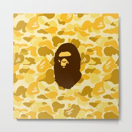 bape shark monkey Metal Print