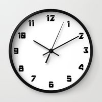 numbers Wall Clocks featuring Numbers by liberthine01