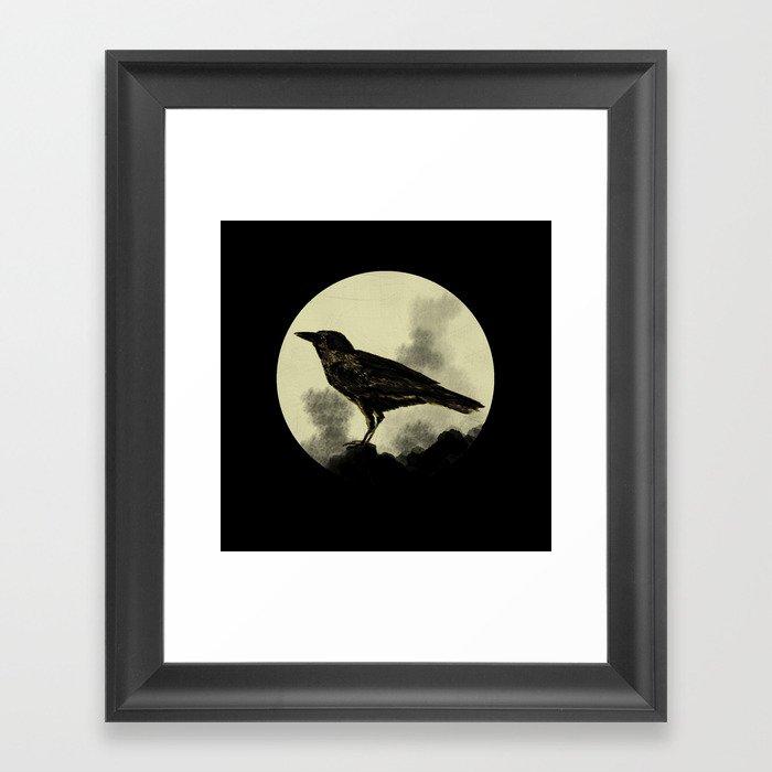 Crow Gerahmter Kunstdruck