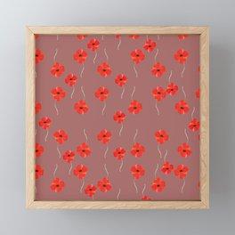 Beautiful red poppies Framed Mini Art Print