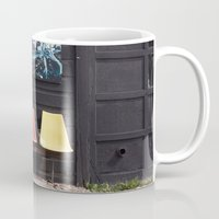 posters Mugs featuring Seats outside Heritage Posters by RMK Photography