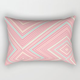 Pink, Green, Yellow, and Peach Lines - Illusion Rectangular Pillow