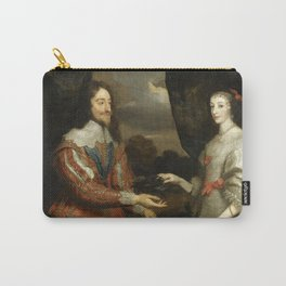 """Sir Anthony van Dyck """"Double portrait of Charles I and Queen Henrietta Maria"""" Carry-All Pouch"""