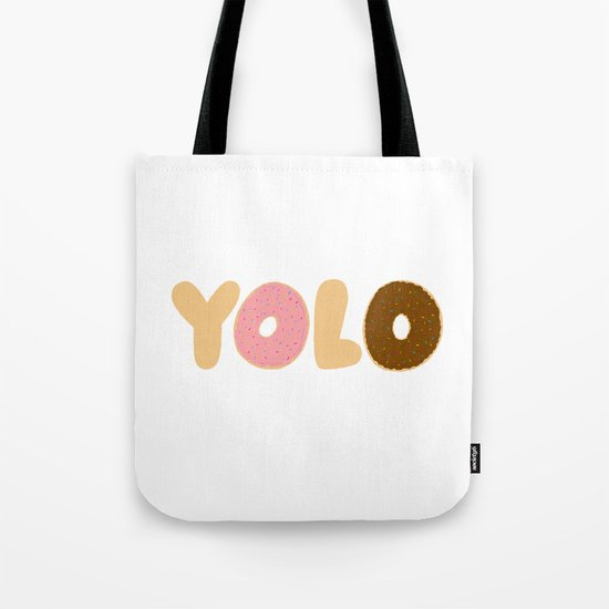 YOLO Donuts Tote Bag