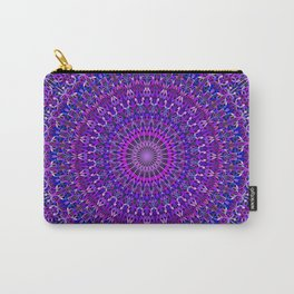 Lace Mandala in Purple and Blue Carry-All Pouch