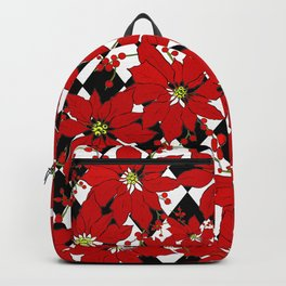HARLEQUIN AND POINSETTIAS Backpack