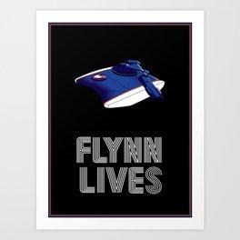 Flynn Lives Tank Art Print