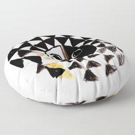 African Sun Mask Floor Pillow