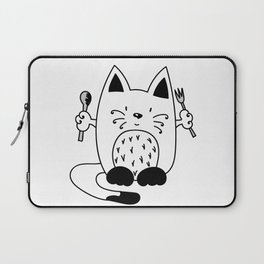 CAT EXPECTING TO EAT Laptop Sleeve