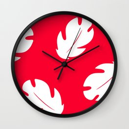 Lilo Hawaiian Floral Leaves Wall Clock