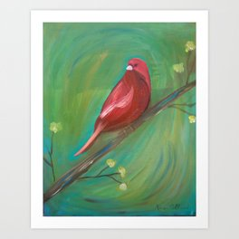 Red Canary Art Print