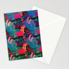 Papercut Floral Dark Stationery Cards