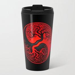 Red and Black Tree of Life Yin Yang Travel Mug