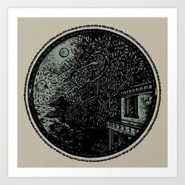 Miniature Circle Landscape 1: Morning Vision Art Print