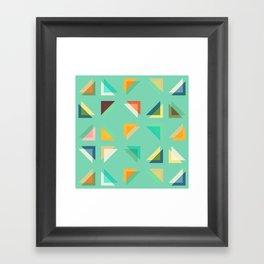Geometric Mint Framed Art Print