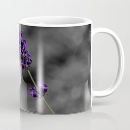 Cabbage butterfly on lavender, monochromatic bokeh background Coffee Mug