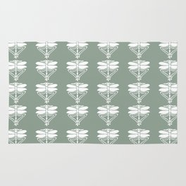 Pewter Arts and Crafts Dragonflies Rug