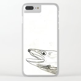 Fish Face 3 Clear iPhone Case