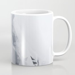 splash geometric thumbs up abstract background in black and white Coffee Mug