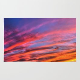 colorful clouds x Rug