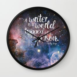 Victor Hugo Writer Quote Wall Clock