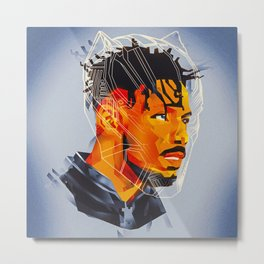 Killmonger, Black Panther Fan Art Metal Print