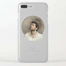 Castiel. White crown. Clear iPhone Case