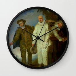 """Antoine Watteau """"The Italian Comedians"""" (II) Wall Clock"""