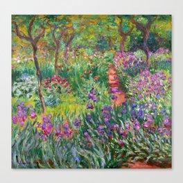 Claude Monet - The Iris Garden At Giverny Canvas Print