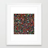 mosaic Framed Art Prints featuring Mosaic by Lyle Hatch