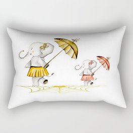 Cheerfull Elphants Rectangular Pillow