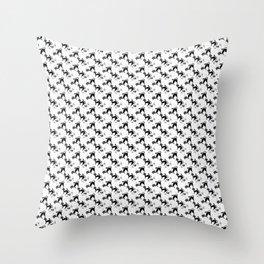 Blac&White Cat Pattern Throw Pillow