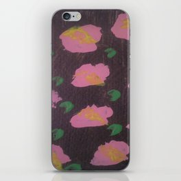 Pink Flower Abstract iPhone Skin