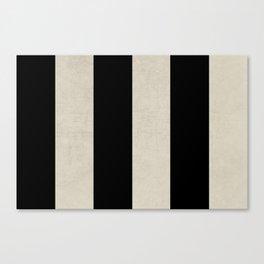 vintage black stripes Canvas Print