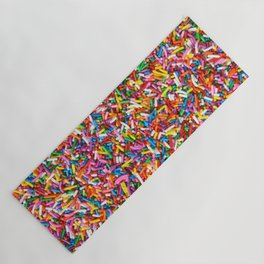 Rainbow Sprinkles Sweet Candy Colorful Yoga Mat